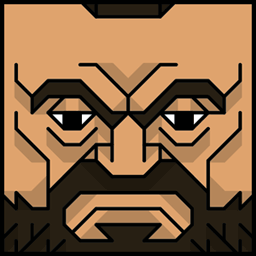 The face of the Squatties Zangief character. From the Street Fighter set.