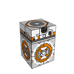 360 degree spinnable 3D preview of the BB-8 Squatties character. From the Star Wars set.