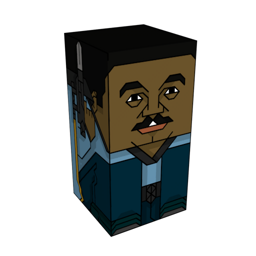 The Squatties Lando Calrissian Bespin character. From the Star Wars set.