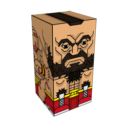 360 degree spinnable 3D preview of the Zangief Squatties character. From the Street Fighter set.