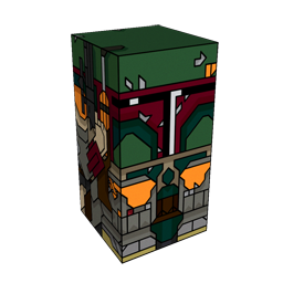 360 degree spinnable 3D preview of the Boba Fett Squatties character. From the Star Wars set.