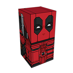360 degree spinnable 3D preview of the Deadpool Squatties character. From the Marvel set.