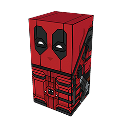 The Squatties Deadpool character. From the Marvel set.