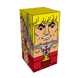 360 degree spinnable 3D preview of the He-Man Squatties character. From the Masters Of The Universe set.