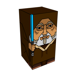 360 degree spinnable 3D preview of the Obi-Wan Kenobi Squatties character. From the Star Wars set.
