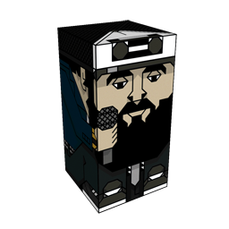 360 degree spinnable 3D preview of the Scroobius Pip Squatties character. From the Music set.