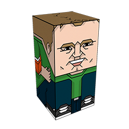 The Squatties Steve McNeil character. From the Go 8-Bit set.