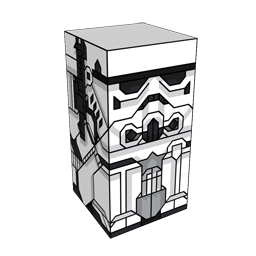 360 degree spinnable 3D preview of the Stormtrooper Squatties character. From the Star Wars set.