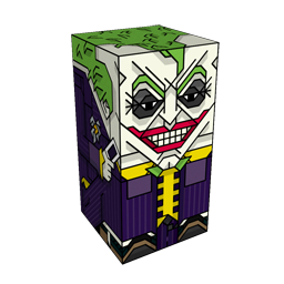360 degree spinnable 3D preview of the The Joker Squatties character. From the Batman set.