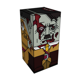 360 degree spinnable 3D preview of the Zombie Adolf Hitler Squatties character. From the Zombies set.