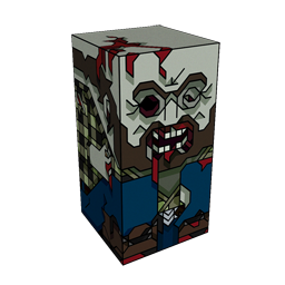 360 degree spinnable 3D preview of the Zombie Trucker Squatties character. From the Zombies set.