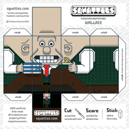 The Squatties Wallace paper toy character