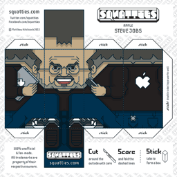 The Squatties Steve Jobs paper toy character