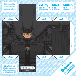 The Squatties Batman - Dark Knight paper toy character