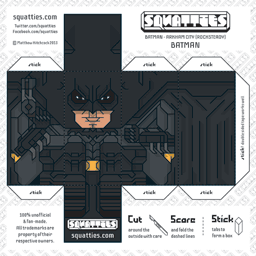 The Squatties Batman - Arkham paper toy character