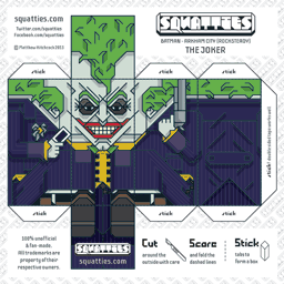 The Squatties The Joker paper toy character