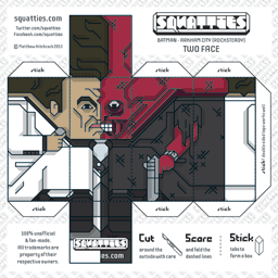 The Squatties Two Face paper toy character