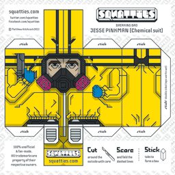The Squatties Jesse Pinkman paper toy character