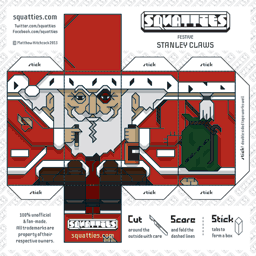 The Squatties Stanley Claws paper toy character
