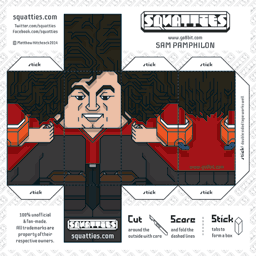 The Squatties Sam Pamphilon paper toy character