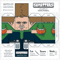 The Squatties Steve McNeil paper toy character