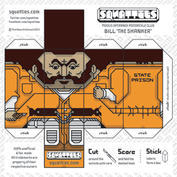 The Squatties Bill 'The Shanker' paper toy character