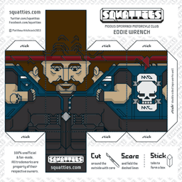 The Squatties Eddie Wrench paper toy character