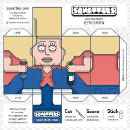 The Squatties Beth Smith paper toy character