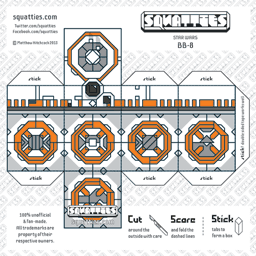 The Squatties BB-8 paper toy character