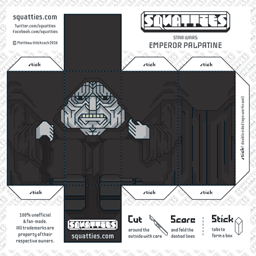 The Squatties Emperor Palpatine paper toy character
