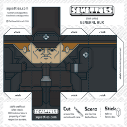 The Squatties General Hux paper toy character