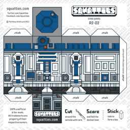 The Squatties R2-D2 paper toy character
