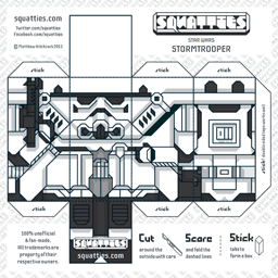 The Squatties Stormtrooper paper toy character