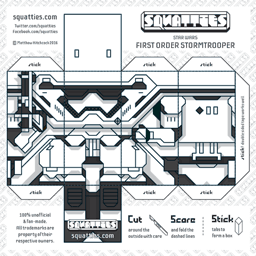 The Squatties Stormtrooper First Order paper toy character