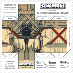 The Squatties Tusken Raider paper toy character