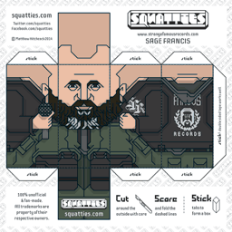 The Squatties Sage Francis paper toy character