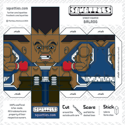The Squatties Balrog paper toy character